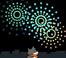 Mèo bắn pháo bông